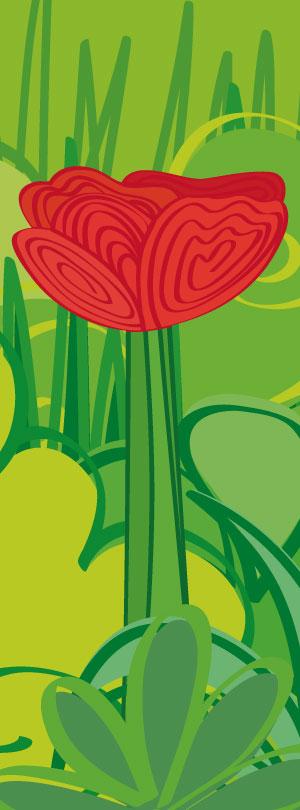 green-grass-poppy-illustration